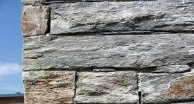 Ardoises décoration extérieur : parement de mur